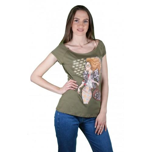 Γυναικείο T-shirt Λαδί
