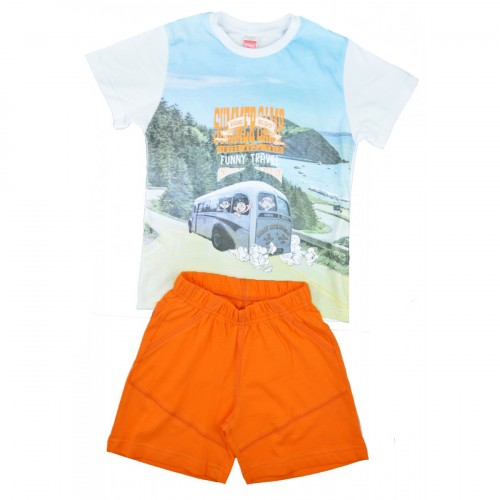 Παιδικό Σετ Λευκό/Σιέλ/Πορτοκαλί - Joyce 7173