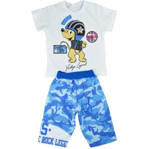Παιδικό Σετ Λευκό/Μπλε - Joyce 7163