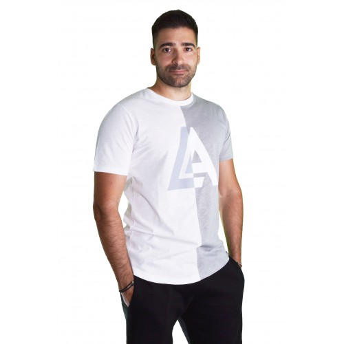 LA57 57622 WHITE/GREY T-SHIRT