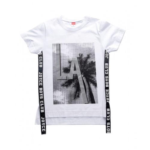 """Μπλουζάκι """"Palm"""" Λευκό - Joyce"""