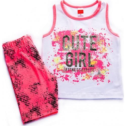 """Σετ """"Cute girl"""" Λευκό/Ροζ - Joyce 92341"""