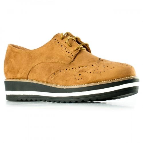Γυναικείο Sneaker Suede Κάμελ