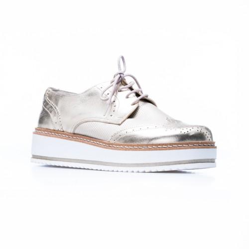 Δερμάτινο Sneaker Χρυσό - Capri