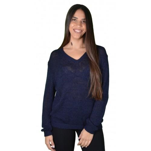 Γυναικεία Μπλούζα Πλεκτή Μπλε