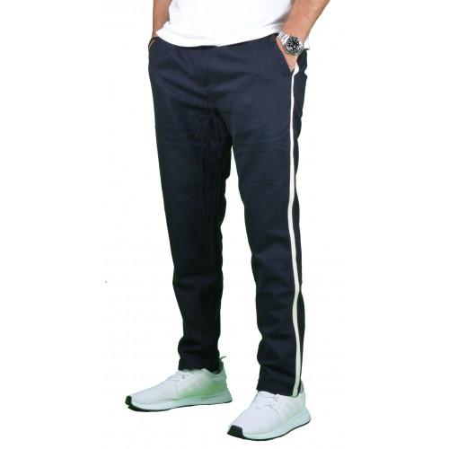 Ανδρικό Παντελόνι Μπλε Λευκή Ρίγα