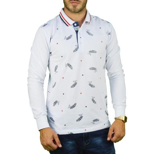 Ανδρική Μπλούζα Πόλο Λευκή