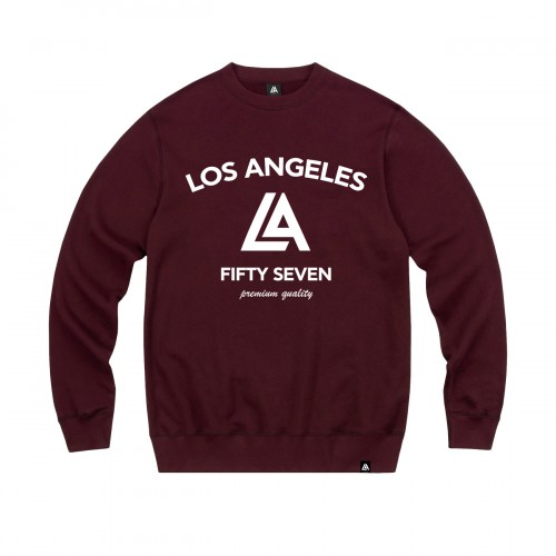 57104-4 LA57 SWEATSHIRT - BURGUNDY