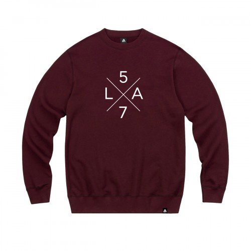 57108-4 LA57 SWEATSHIRT - BURGUNDY