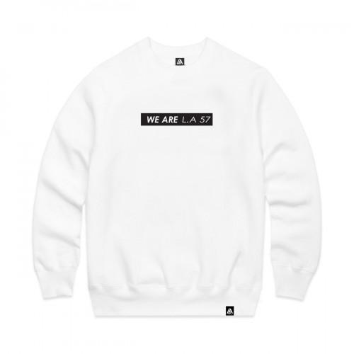 57113-2 LA57 SWEATSHIRT - WHITE
