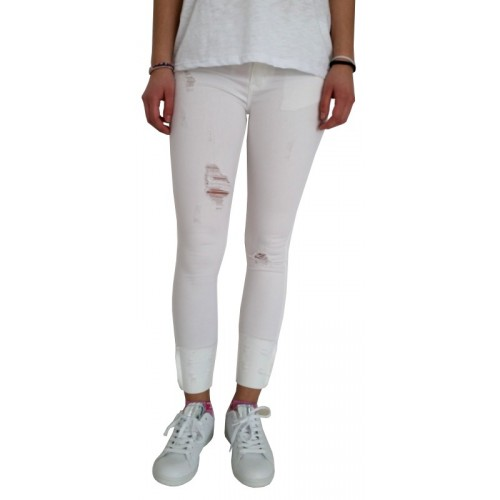 Γυναικείο Παντελόνι Λευκό