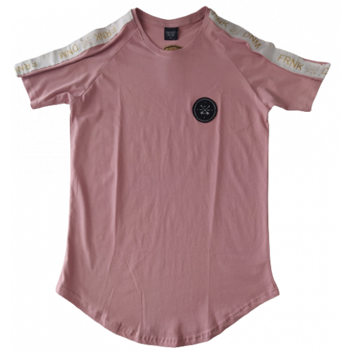 Ανδρικό T-Shirt Σκουρο Ροζ με τρεσα στον ωμο