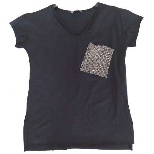 Γυναικείο T-shirt Μαύρο 217352