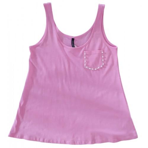 Γυναικείο Μπλουζάκι Αμάνικο Ροζ B2-12A