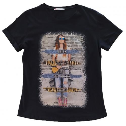 Γυναικείο T-shirt Μαύρο
