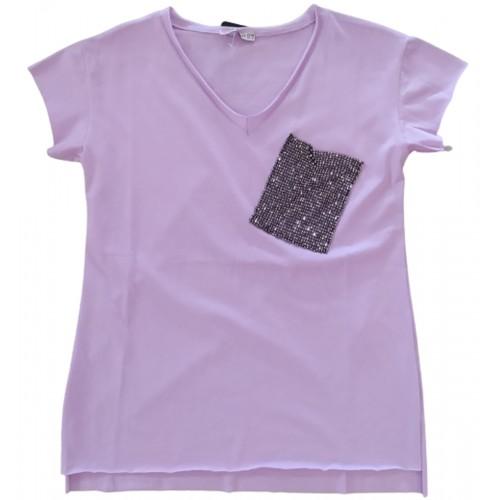 Γυναικείο T-shirt Μωβ 217352