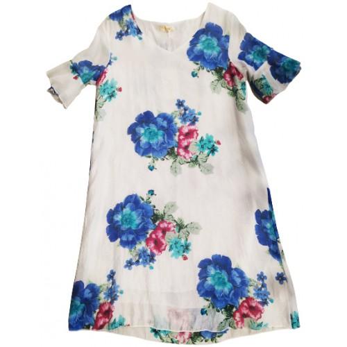 Γυναικείο Φορεμα Φλοραλ Λευκο