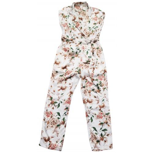 Γυναικεία Ολόσωμη Φόρμα Floral Λευκη