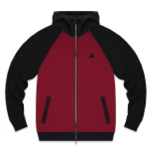 57409-3 LA57 JACKET - BURGUNDY/BLACK