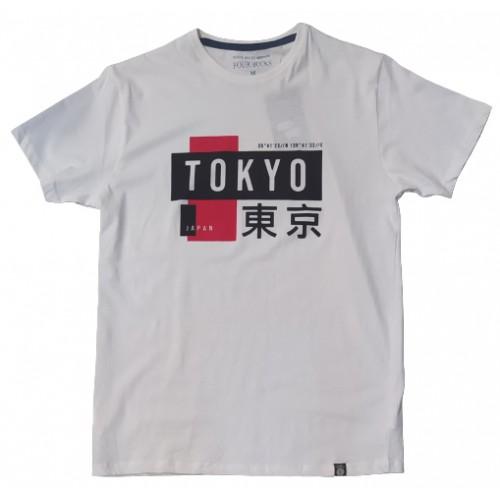 Ανδρικό T-Shirt Λευκό με σταμπα Tokyo