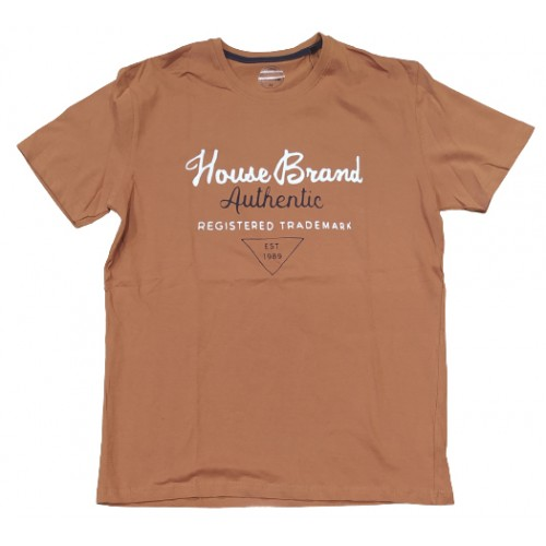 Ανδρικό T-Shirt Πορτοκαλί με σταμπα Brand