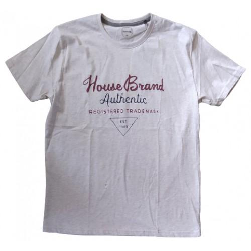 Ανδρικό T-Shirt Γκρι με σταμπα Brand
