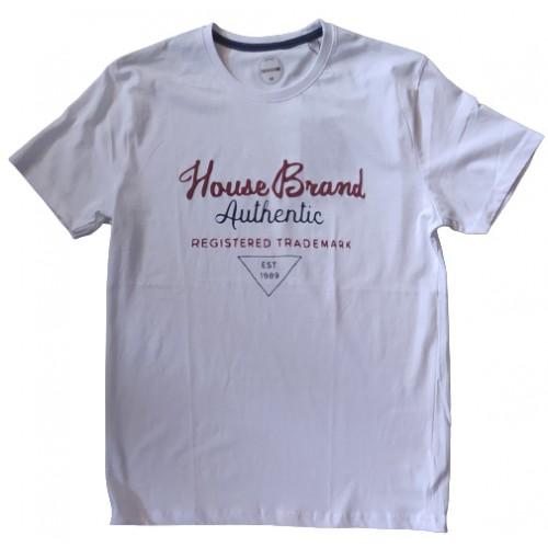 Ανδρικό T-Shirt Λευκό με σταμπα Brand