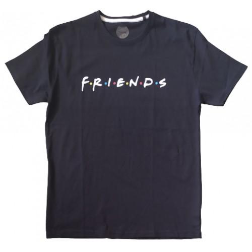 Ανδρικό T-Shirt Μαύρο με σταμπα Friends