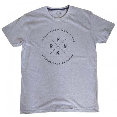 Ανδρικό T-Shirt Γκρι με σταμπα FRNK