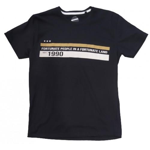 Ανδρικό T-Shirt Μαύρο με σταμπα Fortunate