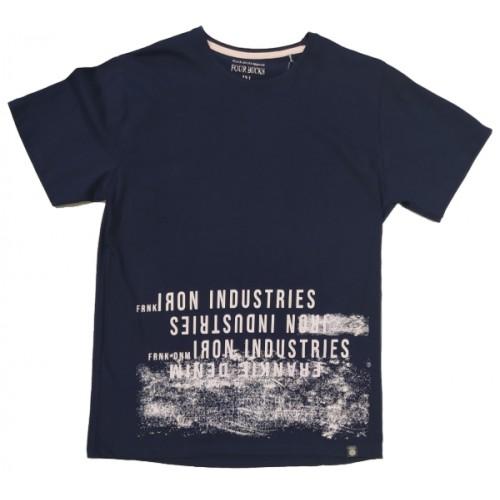 Ανδρικό T-Shirt Μπλε με σταμπα Iron