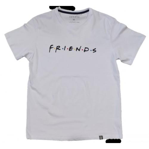 Ανδρικό T-Shirt Λευκό με σταμπα Friends