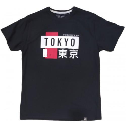 Ανδρικό T-Shirt Μαύρο με σταμπα Tokyo