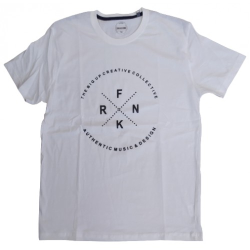 Ανδρικό T-Shirt Λευκό με σταμπα FRNK