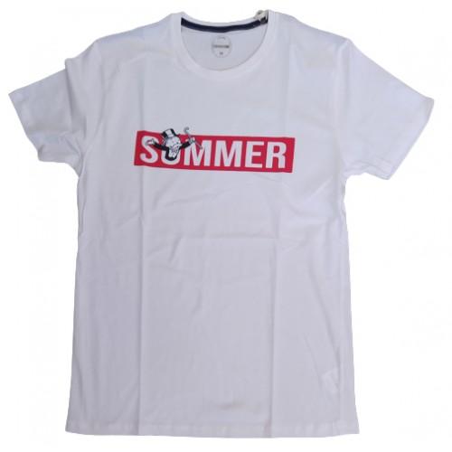 Ανδρικό T-Shirt Λευκό με σταμπα Summer