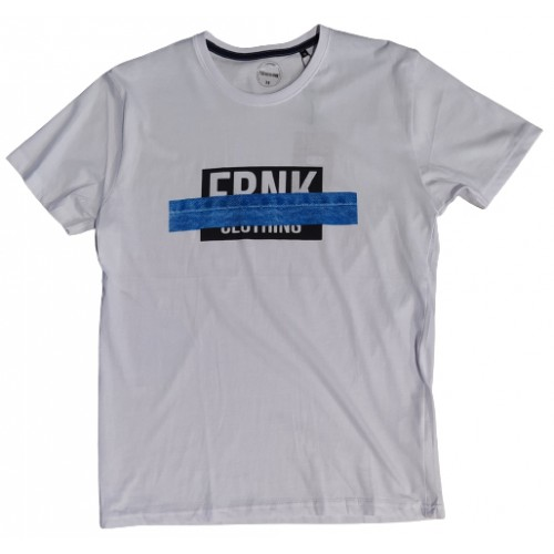 Ανδρικό T-Shirt Λευκό με σταμπα Frank Clothing