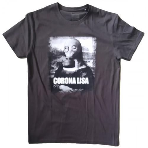 Ανδρικό T-Shirt Λαδί με σταμπα Corona Lisa