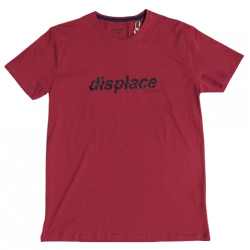 Ανδρικό T-Shirt Μπορντω με σταμπα Displace