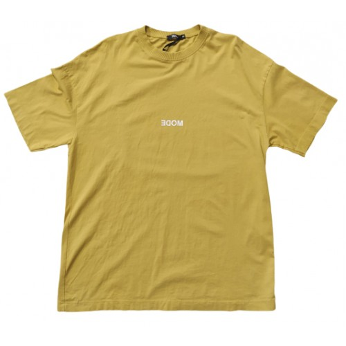 Ανδρικό T-Shirt Κίτρινο με σταμπα Mode
