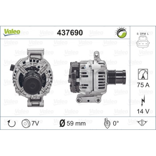 ALTERNATOR FORD TRANSIT (TECDOC 437690) - VALEO VL437690