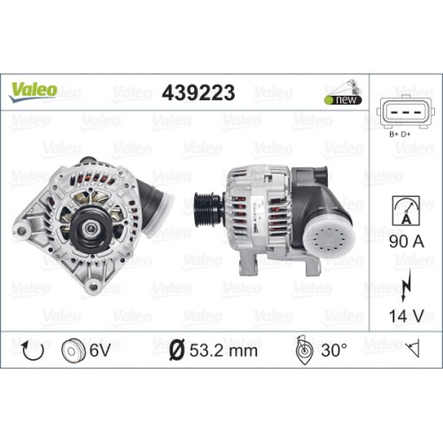 ΑΛΤΕΡΝΕΙΤΟΡ BMW E46 320 98-01 (NEW) (TECDOC 439223) - VALEO VL439223