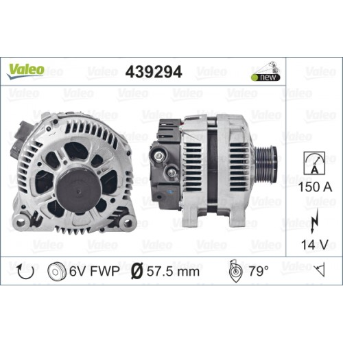 ALTERNATOR CITROEN C5 I 2.0 16V (TECDOC 439294) - VALEO VL439294