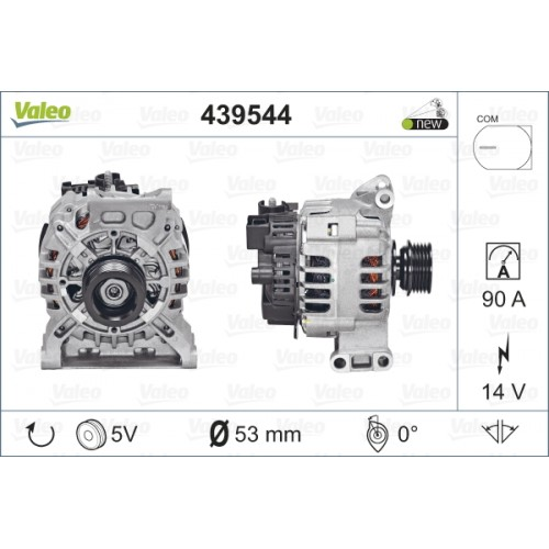 ALTERNATOR MERCEDES W169 A150 04-08 (TECDOC 439544) - VALEO VL439544