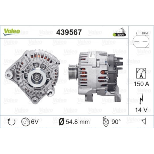 ALTERNATOR NEW BMW X5 (TECDOC 439567) - VALEO VL439567