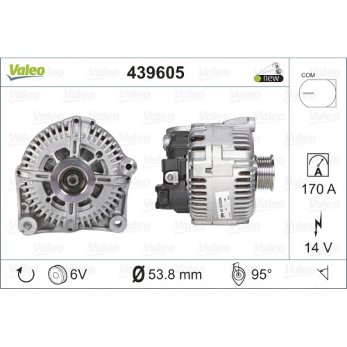 ALTERNATOR BMW X5 / X6 3.0 d (TECDOC 439605) - VALEO VL439605