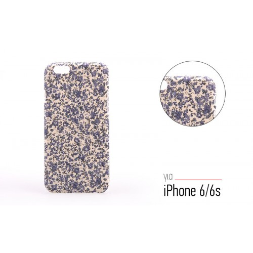 Backcase θήκη με Floral μοτίβο για iPhone 6/6S - 7540 - OEM