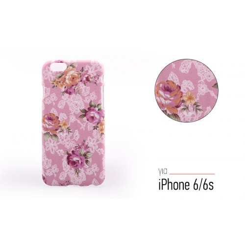 Backcase θήκη με Floral μοτίβο για iPhone 6/6S - 5124 - OEM