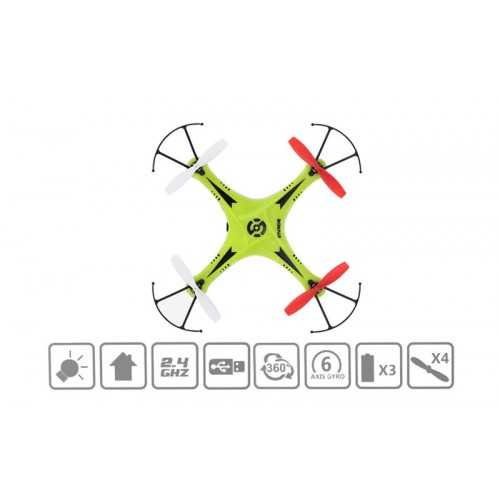 Quadcopter Mingji Spy MJ102 4-Axis Gyro System / 2.4GHz / 4.5 channels με χειριστήριο - Πράσινο