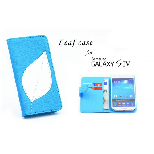 Αναδιπλούμενη Θήκη πορτοφόλι (Leaf) για Samsung Galaxy S4 - Leaf Flip Wallet Cover Case for Samsung S4