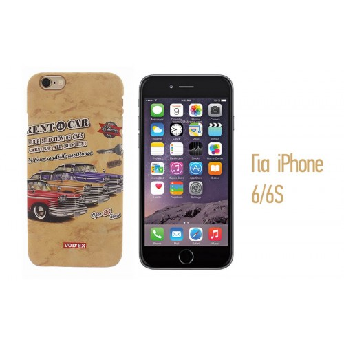 Backcase ανάγλυφη θήκη VodEx για iPhone 6/6S - Rent a Car